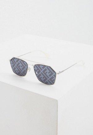 Очки солнцезащитные Fendi FF M0022/S 85L. Цвет: серебряный