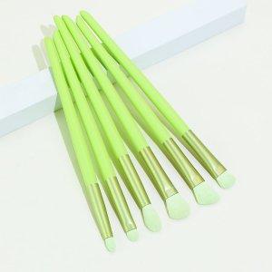 Набор кистей для теней 6шт SHEIN. Цвет: зелёный