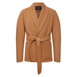 Шерстяной пиджак Zegna Couture. Цвет: бежевый