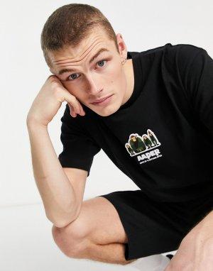 Черная футболка с надписью Aaper AAPE By A Bathing Ape-Черный цвет APE®