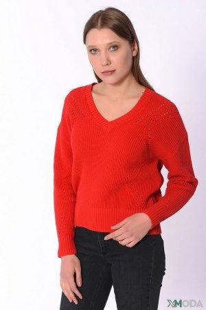 Пуловер Set. Цвет: красный