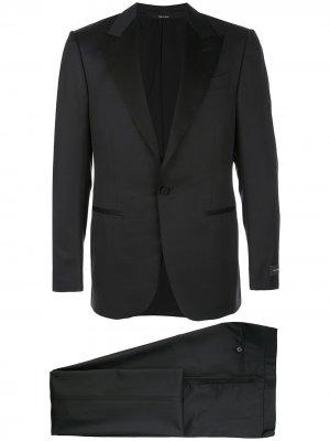 Приталенный костюм Ermenegildo Zegna. Цвет: черный