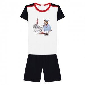 Хлопковая пижама La Perla. Цвет: белый
