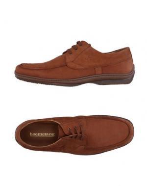 Обувь на шнурках BOOMERANG. Цвет: желто-коричневый