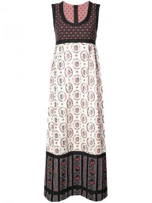 Жаккардовое платье с рисунком Graces Floral Anna Sui. Цвет: черный