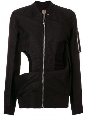 Куртка-бомбер с прорезями Rick Owens DRKSHDW. Цвет: черный