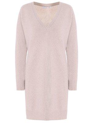 Кашемировая туника-пуловер AGNONA. Цвет: бежевый