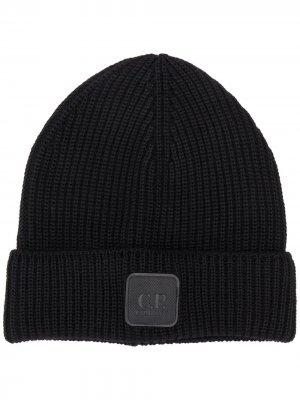 Wool beanie hat C.P. Company. Цвет: черный
