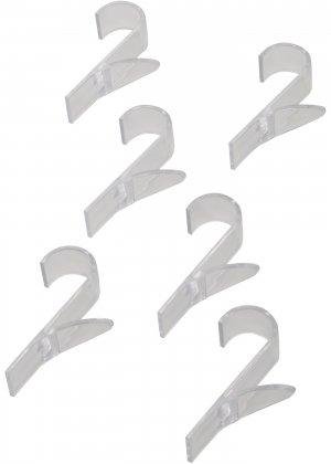 Крючки для полотенцесушителя (6 шт.) bonprix. Цвет: бесцветный