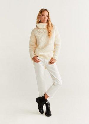 Укороченные джинсы straight - Sayana Mango. Цвет: грязно-белый
