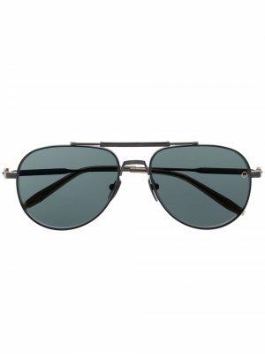 Солнцезащитные очки-авиаторы Hydra Akoni. Цвет: черный