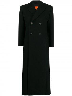 Длинное двубортное пальто colville. Цвет: черный