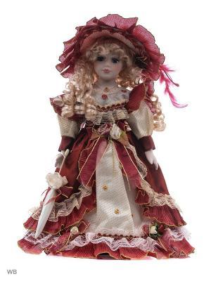 Кукла фарфор 16 Лючия Angel Collection. Цвет: красный, бежевый