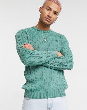 Джемпер с узором «косичка» -Зеленый цвет Timberland