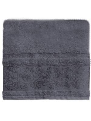 Полотенце банное 50*90 Bonita Дамаск, махровое, Антрацит. Цвет: антрацитовый
