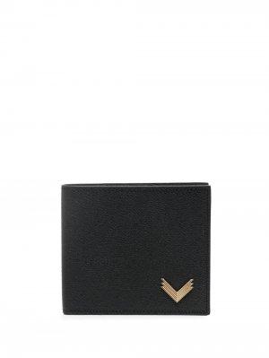Кошелек с логотипом Manokhi. Цвет: черный