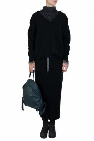 Черный пуловер Eleventy