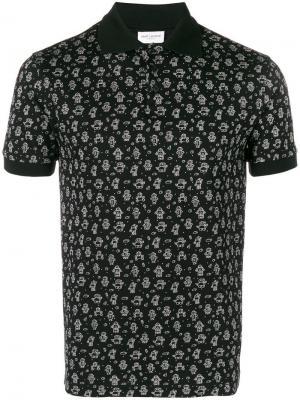 Рубашка-поло с принтом роботов Saint Laurent. Цвет: черный