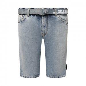 Джинсовые шорты Off-White. Цвет: синий