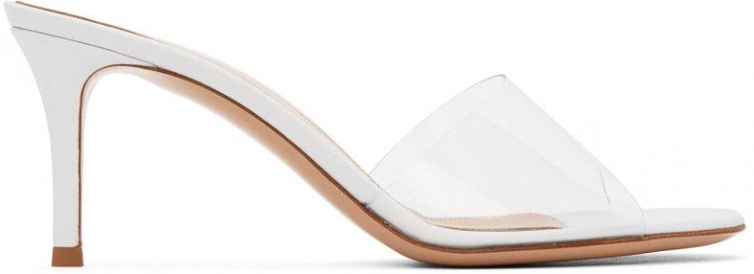 White Glass Heels Gianvito Rossi. Цвет: trans/white
