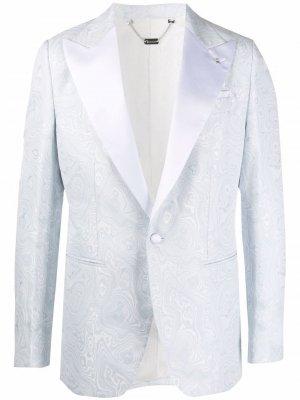 Пиджак Marbled узкого кроя Billionaire. Цвет: синий