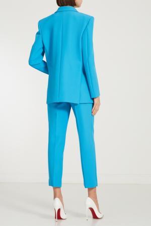 Бирюзовые брюки со стрелками Alexandr Rogov. Цвет: голубой
