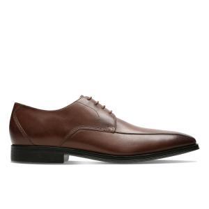 Ботинки-дерби кожаные Gilman Cap CLARKS. Цвет: темный каштан,черный
