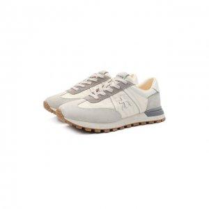 Комбинированные кроссовки John-Low-D Premiata. Цвет: серый