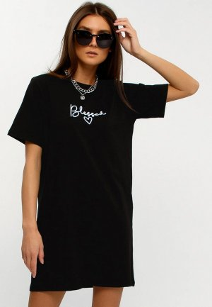 Платье Апрель. Цвет: черный
