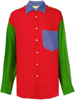 Рубашка 1990-х годов в стиле колор-блок JC de Castelbajac Pre-Owned. Цвет: разноцветный