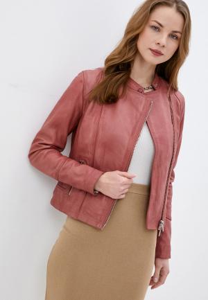 Куртка кожаная Oakwood TERRY. Цвет: розовый