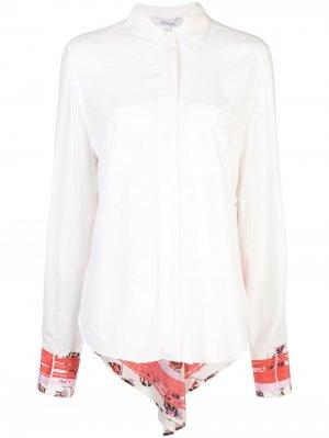 Рубашка на пуговицах с длинными рукавами Derek Lam 10 Crosby. Цвет: белый