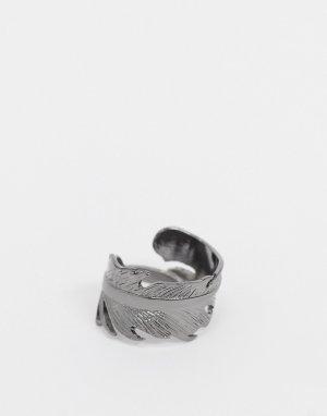 Серебристое кольцо -Серебряный Icon Brand