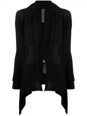 Легкое пальто-кардиган без застежки Rick Owens. Цвет: черный