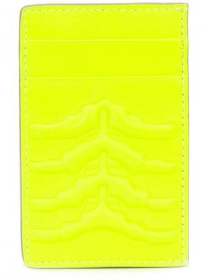 Кошельки и визитницы Alexander McQueen. Цвет: жёлтый и оранжевый