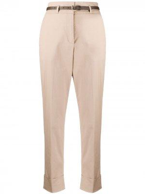Укороченные брюки чинос с завышенной талией Peserico. Цвет: нейтральные цвета