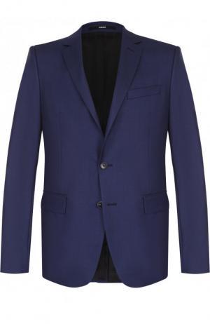 Однобортный шерстяной пиджак Kenzo. Цвет: синий
