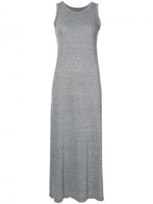 Длинное платье-майка Current/Elliott. Цвет: серый