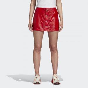 Мини-юбка Fiorucci Kiss Originals adidas. Цвет: красный