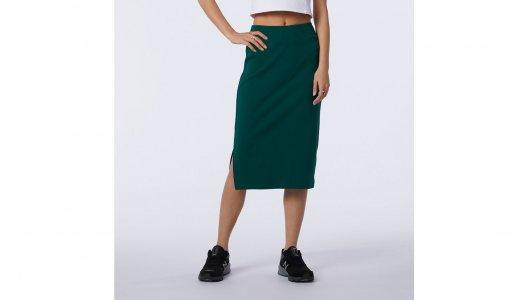 Юбки NB Athletics Lurex Skirt New Balance. Цвет: зеленый