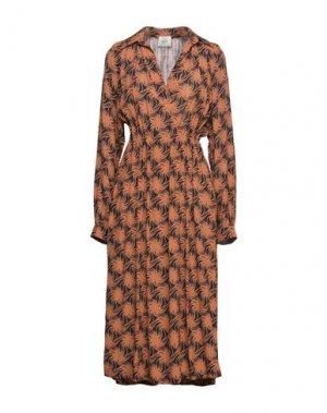 Платье миди ALYSI. Цвет: ржаво-коричневый