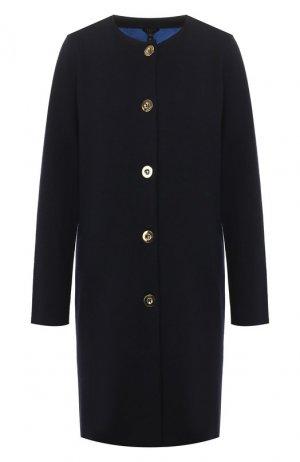 Шерстяное пальто Escada. Цвет: синий