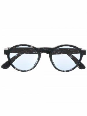 Солнцезащитные очки в круглой оправе MYKITA+MAISON MARGIELA. Цвет: черный