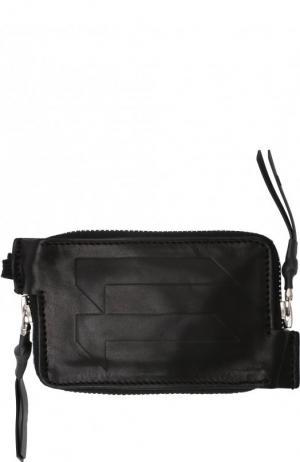 Кожаное портмоне с двумя отделениями на молнии 11 by Boris Bidjan Saberi. Цвет: черный
