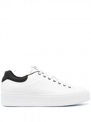 Кеды на шнуровке Cesare Paciotti. Цвет: белый