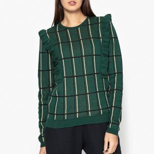 Пуловер из жаккардового трикотажа SE TENIR A CARREAUX BLUNE. Цвет: зеленый