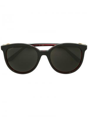 Tinted oversized sunglasses Cartier. Цвет: черный