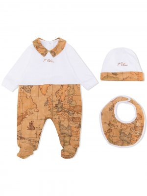 Пижама с принтом Alviero Martini Kids. Цвет: белый