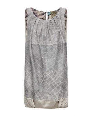 Короткое платье ALICE SAN DIEGO. Цвет: серый