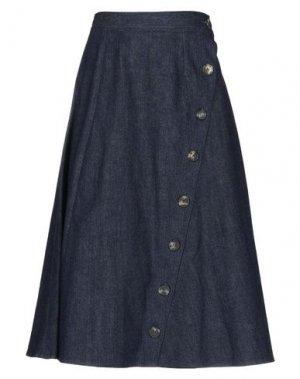 Джинсовая юбка CAROLINA HERRERA. Цвет: синий